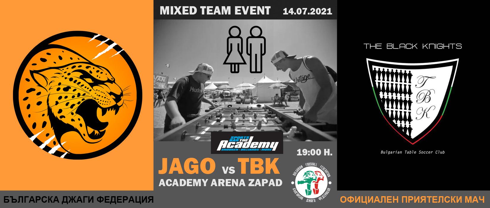 Mixed Team Event 2021 - Jago vs TBK Foosball