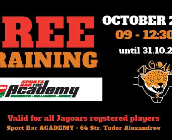Свободни тренировки всяка събота от 9:00 до 12:30 на маса 1,2,3 и 4!