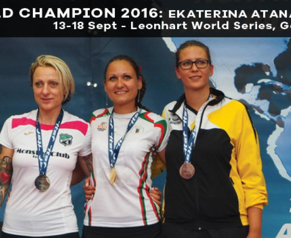 Ekaterina Atanasova is the new 2016 world champion in foosball