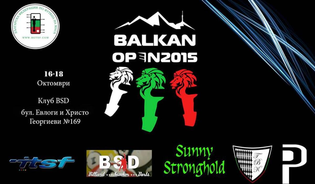 Balkan Open 2015 /TBK/ ITSF Pro Tour: 16-18 Oct