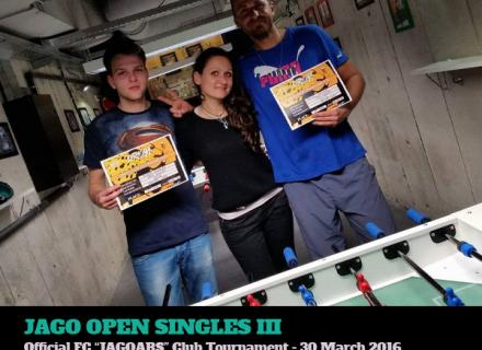 foosball club tournament singles 2016