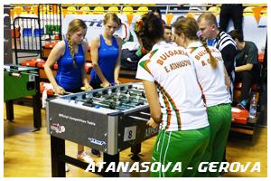 атанасова - герова - състезателки по футбол на маса за джагоарите