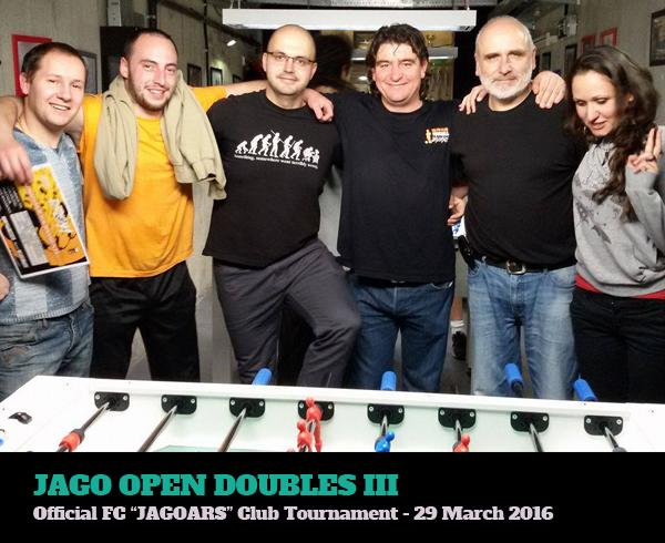 foosball club tournament doubles 2016